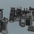 """Télécharger fichier 3D Battletech """"Forward Base"""" Ensemble de terrain adapté aux hexagones (Structures et murs seulement), Thunderhead_Studio"""