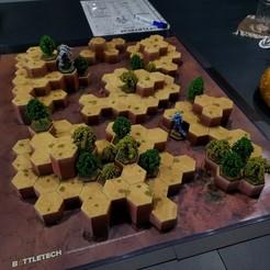 Descargar archivos 3D gratis Desierto de Battletech #3 Hex Hills, Thunderhead_Studio