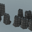 "Download 3D printing templates Battletech ""Forward Base"" Hex-friendly terrain set, Thunderhead_Studio"