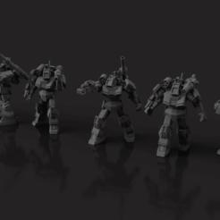 Download free STL file American Mecha - Classic Hero Mech Dougram • Object to 3D print, Thunderhead_Studio
