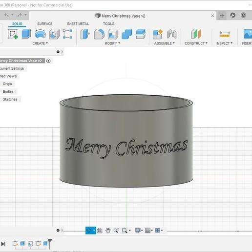 Télécharger modèle 3D gratuit Vase de Noël Joyeux, sphuynh