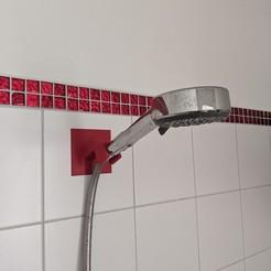 Download free 3D printer designs shower head hanger, -mario-