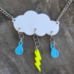 collar.png Download STL file Cloud Rain Necklace Set • 3D printable model, valeperezalvarez