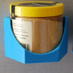 DSC_5958.JPG Download STL file Spice pot holder • 3D printer model, menarddi3