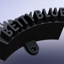BETTYBLUE.png Download STL file HEADPHONE HOLDER • 3D print template, TENDENCIA_3D