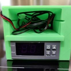 finished assembly - front.jpg Télécharger fichier STL Boîtier du thermostat STC1000 avec prise BTICINO MATIX • Modèle imprimable en 3D, NeoMod