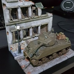 Descargar archivo 3D Street and ruined house ww2, DaniElbichO