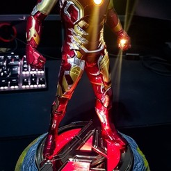 Descargar STL Iron man mark43 figure base, DaniElbichO