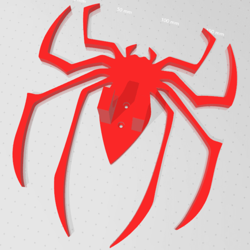spiderman 1.png Download free STL file Spiderman Wall control holder • Template to 3D print, jesushbpc