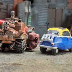 Download free 3D printer designs Mad Max Isetta Gaslands, Marcus_GT500