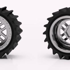 Imprimir en 3D gratis 1:10 Ruedas de camión monstruo + neumáticos de arena, Marcus_GT500