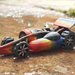Download free 3D printer files Jet engine Drag Racer (Gaslands) with spinning wheels, Marcus_GT500