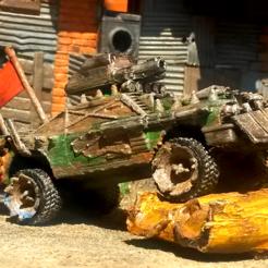 Télécharger fichier STL gratuit 1:64 Chryslus Highwayman Fallout 2 Mad Max Version • Design imprimable en 3D, Marcus_GT500