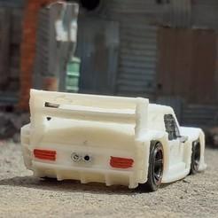 Imprimir en 3D VW BRASILIA SUPER SILUETA ESCALA 1/64 (RUEDAS CALIENTES) COCHE DE JUGUETE, Marcus_GT500
