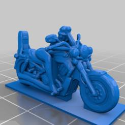 Télécharger fichier STL gratuit fille motarde 1/64 • Modèle imprimable en 3D, Marcus_GT500