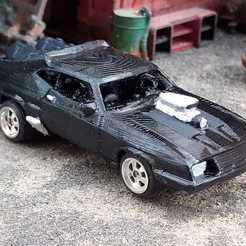 Télécharger fichier STL gratuit Mad Max Interceptor V8 Ford Falcon Gaslands • Modèle pour impression 3D, Marcus_GT500