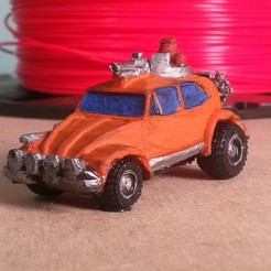 Télécharger fichier imprimante 3D Coccinelle Thunder Road avec des roues qui tournent !, Marcus_GT500