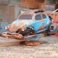 Descargar modelo 3D gratis Escarabajo VW alimentado por cohetes Steampunk Escarabajo a escala 1/64 Gaslands, Marcus_GT500