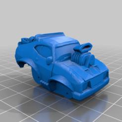 Download free 3D printer designs Cartooned Interceptor V8 Gaslands, Marcus_GT500