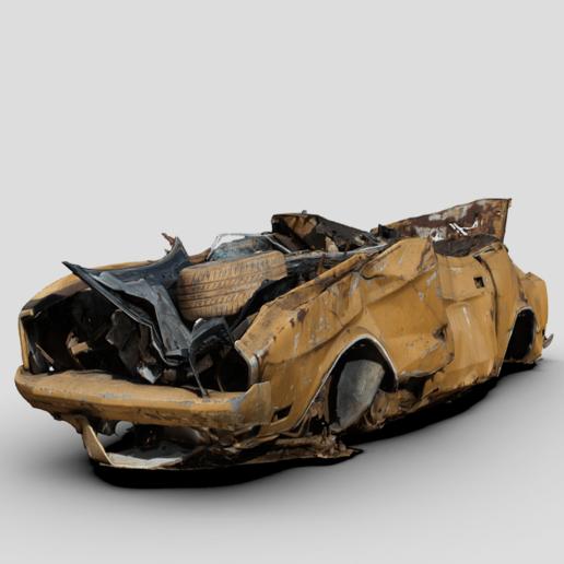 Télécharger fichier imprimante 3D gratuit 1/64 Mustang classique écrasée, Marcus_GT500