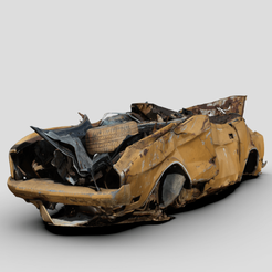 Download free 3D printer designs 1/64 Crushed Classic Mustang, Marcus_GT500