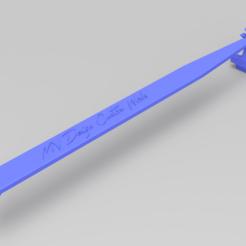 Impresiones 3D gratis Correa de sujeción de la batería de 2WD Traxxas Slash, Marcus_GT500