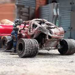 Download free 3D printing designs Mad Max FDK Kaboom Bug VW Beetle Gaslands, Marcus_GT500