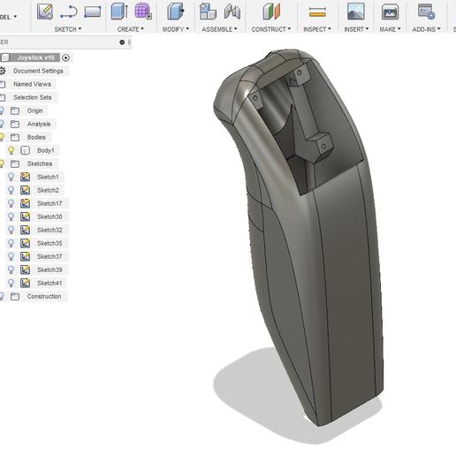 Joystick_Fusion360_1.PNG Télécharger fichier STL gratuit Joystick ESP8266 / MPU6050 • Plan imprimable en 3D, Frederic_JELMONI