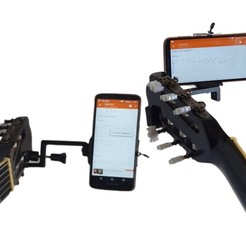 Download STL cell phone stand on guitar, desginercutter