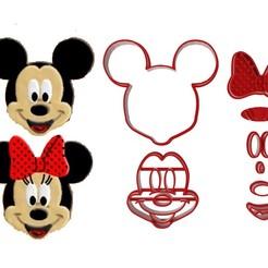 Descargar archivos 3D Mickey Mouse y Minnie Cutter Cookie, desginercutter