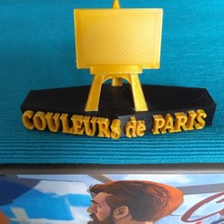 couleurs de paris.jpg Download STL file trophy or first player token couleurs de paris / colors of paris trophy or first player token • 3D print design, ssxers