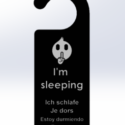 "Je dors.PNG Download free STL file ""I'm sleeping"" sign • 3D printer model, Firik"