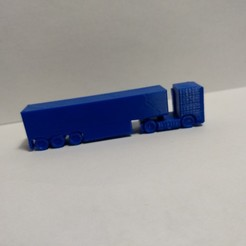 IMG_20191218_213237665_BURST000_COVER.jpg Download free OBJ file European Semi Truck with box trailer 1:200 scale • 3D print object, andyblinkblink