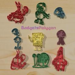 Descargar diseños 3D Bob Sponge 9 cookie cuter, gadgetspolygon