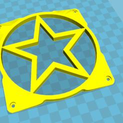 fan.png Download free STL file 120mm star fan grill • 3D print template, TECHGUY
