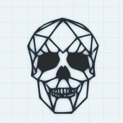 Download 3D print files 2D Skull Art, TECHGUY
