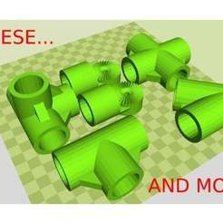 3581079411d70cfd95b918ba98ce1cf5_preview_featured.jpg Download STL file Pipe Building Kit • 3D printing template, TECHGUY