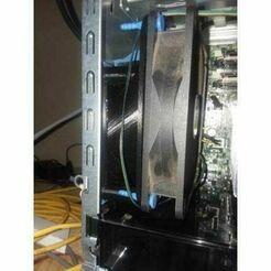 92mm-to-120mm-fan-offset-adapter-3d-model-stl.jpeg Télécharger fichier STL Adaptateur de ventilateur décalé de 92 mm à 120 mm • Modèle pour imprimante 3D, TECHGUY
