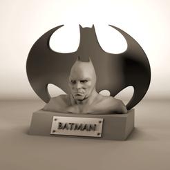 Télécharger STL gratuit Buste Batman, Tornmoon3D