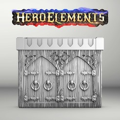 ArmarioHQ1.jpg Download STL file Cabinet / Dungeon Dressing For Heroquest and other games (HQ) • 3D printing design, Tornmoon3D