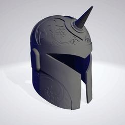 Mandalorian_Unicorn_1.png Télécharger fichier STL Licorne mandalorienne • Plan pour imprimante 3D, Angus_Arts