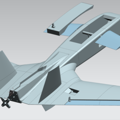 Download 3D printing templates 3D printed RC aircraft model, CF-10C 'Dart', Arlenn_c
