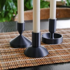 SO_CandleBestPics_4.JPG Download free STL file Modular Candle Holder Set • Design to 3D print, sharedobjects