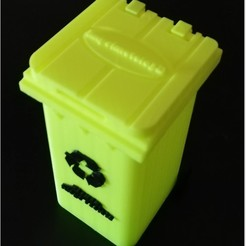 Foto_Cubo_Amarillo_Reciclaje.jpg Download STL file Yellow recycling bin • 3D printable template, jimenezdavid433