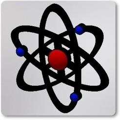 Foto_Modelo.jpg Download STL file Atom keychain • 3D printing object, jimenezdavid433