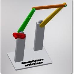 Modelo.jpg Download STL file Articulated quadrilateral mechanism model • Object to 3D print, jimenezdavid433