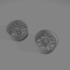 snowflakes19.png Télécharger fichier STL Roues des flocons de neige 19 pouces • Plan pour impression 3D, Mperez1970