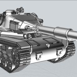 BigGunSTRV74.PNG Télécharger fichier STL gratuit Modèle Smiter Tank STRV74 • Plan pour impression 3D, PopsicleBallista