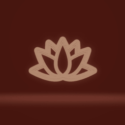 c1.png Download STL file cookie cutter stamp lotus • Design to 3D print, nina_hynes