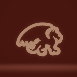 c1.png Download STL file cookie cutter dragon • 3D printer object, nina_hynes
